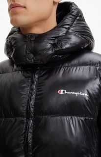 Type Jackets Champion Padded Zip-up Funnel Neck Hooded Jacket