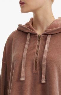 Type Hoodies Champion Wmns Velour Half Zip Oversized Hoodie