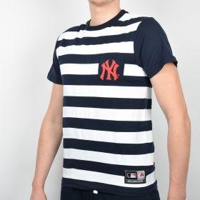 Тениска Majestic MLB New York Yankees Unspar Stripe Pocket Tee