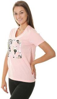 Тениска Converse Wmns Linear Floral Box Star V Neck Tee