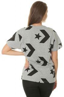 Тениска Converse Wmns Star Chevron Print Crew Tee