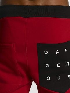 Dangerous DNGRS / Sweat Pant Topping in red