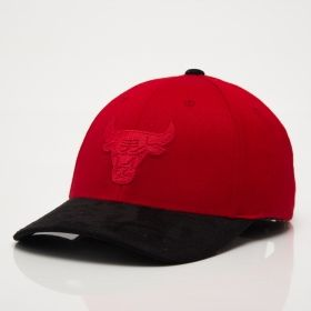 Type Caps Mitchell & Ness NBA Chicago Bulls 3D Suede 110 Snapback Cap