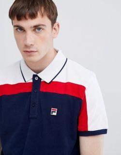 Type Shirts Fila Spencer Cut & Sew Panel Slim Fit Polo T-Shirt