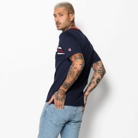 Type Shirts Fila Bruno 3 Cut And Sew Knit Panel Graphic Tee