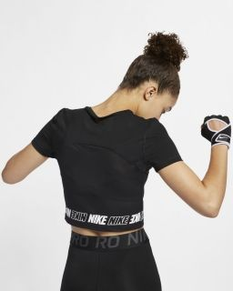 Type Shirts Nike Wmns Pro Short-Sleeve Crop Top