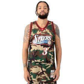 Type Shirts Mitchell & Ness NBA Philadelphia 76ers 1997-98 Allen Iverson Woodland Camo Swingman Jersey