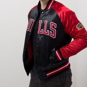 Type Jackets Mitchell & Ness NBA Chicago Bulls Tough Season Satin Jacket