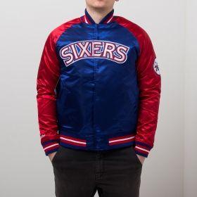 Type Jackets Mitchell & Ness NBA Philadelphia 76ers Tough Season Satin Jacket