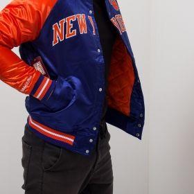 Type Jackets Mitchell & Ness NBA New York Knicks Tough Season Satin Jacket