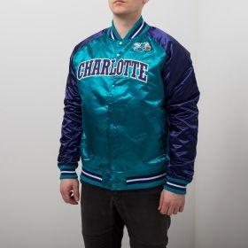 Type Jackets Mitchell & Ness NBA Charlotte Hornets Tough Season Satin Jacket