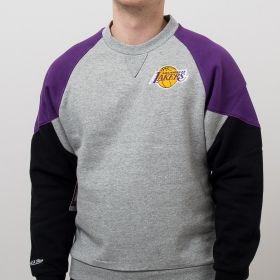 Type Hoodies Mitchell & Ness NBA Los Angeles Lakers Trading Block Crew