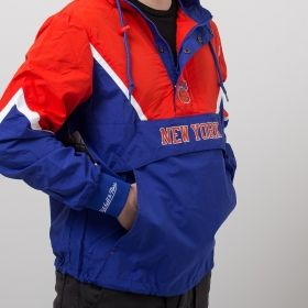 Type Jackets Mitchell & Ness NBA New York Knicks Half Zip Anorak Jacket