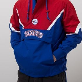 Type Jackets Mitchell & Ness NBA Philadelphia 76ers Half Zip Anorak Jacket