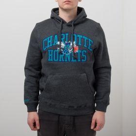 Type Hoodies Mitchell & Ness NBA Charlotte Hornets Playoff Win Hoody