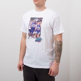 Type Shirts Mitchell & Ness Utah Jazz Karl Malone & John Stockton Real Player Print Tee