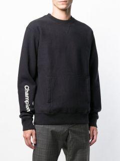 Type Hoodies Champion Black 'C' Collection Reverse Weave Sweatshirt