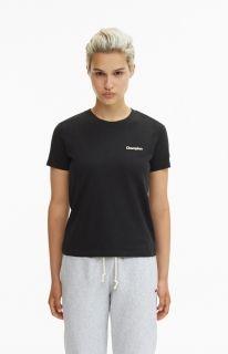 Type Shirts Champion Wmns Black 'C' Collection T-Shirt