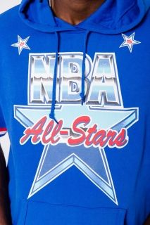 Type Hoodies Mitchell & Ness NBA All-Star 1991 French Terry Short-Sleeve Hoodie