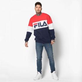Type Hoodies Fila Straight Blocked Crew Sweatshirt