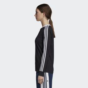 Type Shirts adidas Originals Wmns 3 Stripes Long Sleeve Tee
