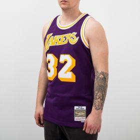 Type Shirts Mitchell & Ness NBA Los Angeles Lakers Magic Johnson 1984-85 Swingman Jersey