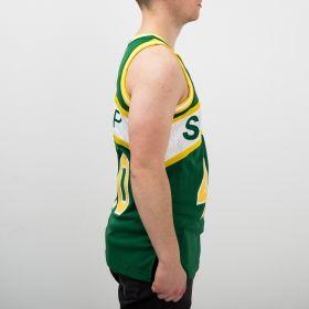Type Shirts Mitchell & Ness NBA Seattle Supersonics Shawn Kemp 1994-95 Road Swingman Jersey