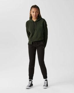 Type Hoodies Converse Wmns Sweater Cropped Pullover Hoodie
