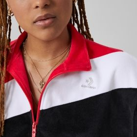 Type Hoodies Converse Wmns Colour Blocked Track Jacket