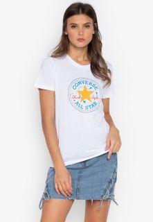 Type Shirts Converse Wmns Galaxy Chuck Patch Crew Tee