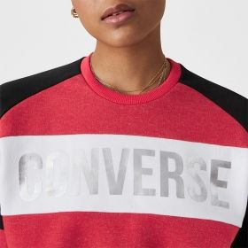 Type Hoodies Converse Wmns Lurex Metallic Cropped Crew