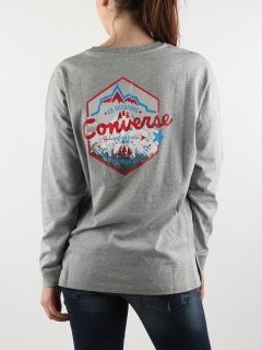 Тениска Converse Wmns Mountain Club Long Sleeve T-Shirt