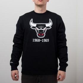 Type Hoodies Mitchell & Ness NBA Chicago Bulls Team Logo Crew
