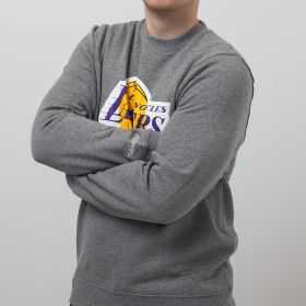Type Hoodies Mitchell & Ness NBA Los Angeles Lakers Team Logo Crew