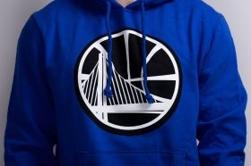 Суичър Mitchell & Ness NBA Golden State Warriors Black And White Logo Hoody