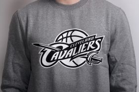 Суичър Mitchell & Ness NBA Cleveland Cavaliers Black And White Logo Crew