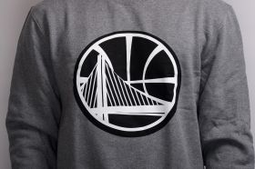 Суичър Mitchell & Ness NBA Golden State Warriors Black And White Logo Crew