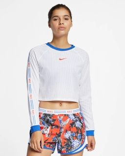 Type Shirts Nike Wmns Floral Cropped Running Top