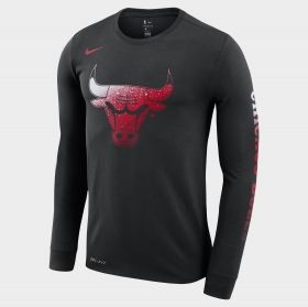 Type Shirts Nike NBA Chicago Bulls Dri-FIT Long-Sleeve T-Shirt
