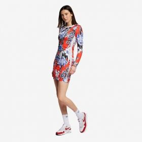 Type Skirts / Dresses Nike Wmns Long Sleeve Printed Dress