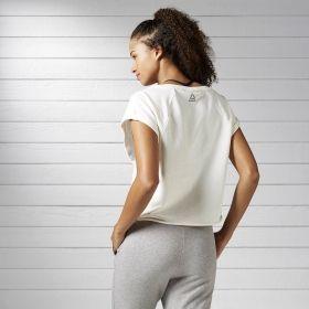 Тениска Reebok WMNS Yoga French Terry Crop Top