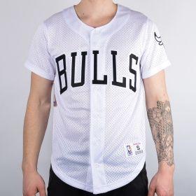 Тениска Mitchell & Ness NBA Chicago Bulls Mesh Buttom Front Shirt