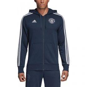 Type Hoodies adidas Manchester United 3 Striped Full Zip Hoodie