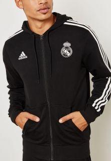 Type Hoodies adidas Real Madrid 3 Stripes Full Zip Hoodie