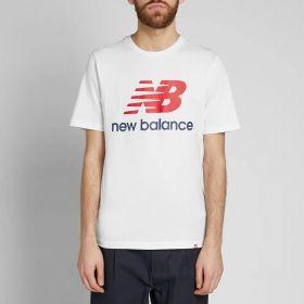 Type Shirts New Balance Essentials Stacked Logo Tee
