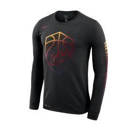 Type Shirts Nike NBA Cleveland Cavaliers Dri-FIT Long-Sleeve Logo Tee