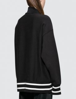 Type Hoodies Champion Wmns Half Zip-Up Reverse Weave Stripe Sweatshirt