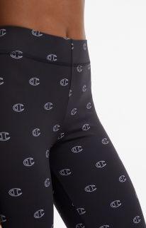 Type Pants Champion Wmns C' Logo Print 7/8 Run Leggings