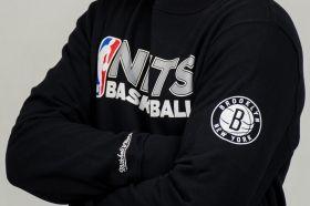 Суичър Mitchell & Ness NBA Brooklyn Nets Team Issue Crewneck Sweatshirt