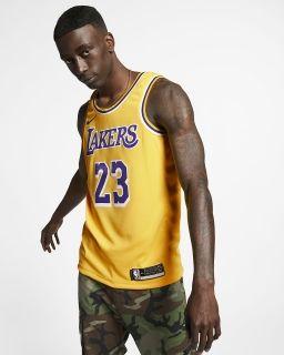 2abd92e7021 НОВ Баскетболен потник Nike NBA Los Angeles Lakers Lebron James Icon  Edition Swingman Jersey
